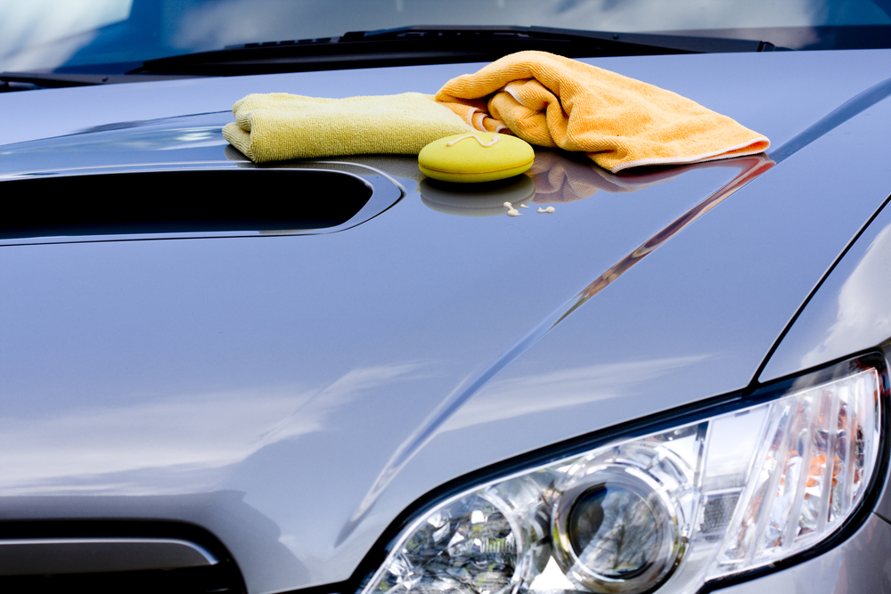 car hood and car wash  essentials